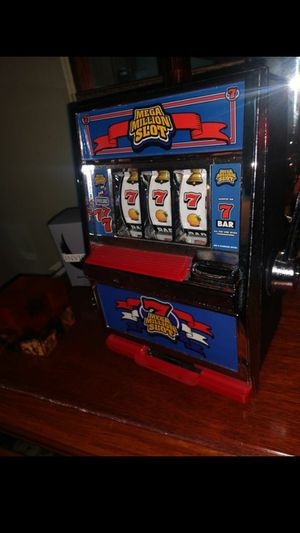 Slot Machine Coin Bank Mega Million W/ Realistic Gaming Sounds