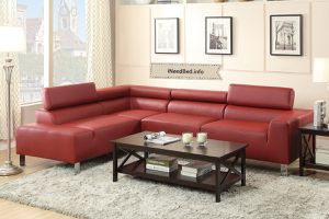 Red Leather Sectional... $999 or as low as $35.77 per week... please visit (iNeedBed. info) for more details