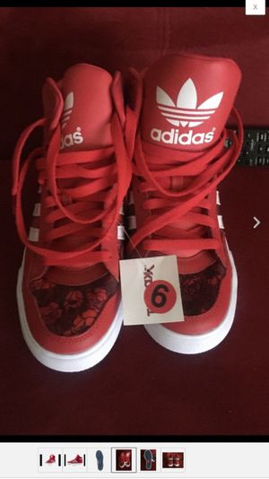 Adidas Red Extaball Sneakers size 6