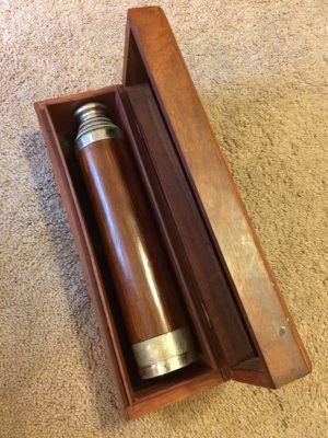 Telescope Nautical Spyglass Optical with Wooden Box
