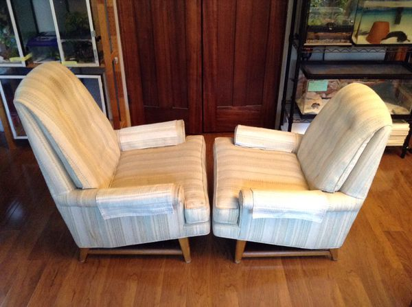 Matching pair vintage mid century mcm king and queen for Furniture bremerton
