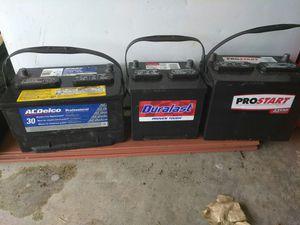 3 cars battery