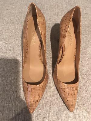 Never Worn Never Worn Lauren by Ralph Lauren Glazed Cork Pointed Toe Heels Pumps Size 9.5