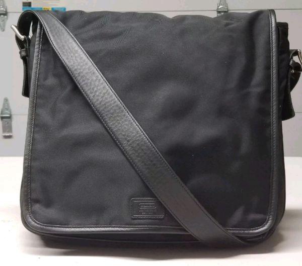 innovative design 92f86 07a05 ... cheap max 8fb41 07317 COACH 5109 Black NylonLeather Messenger bag  (Clothing Shoes  NIKE AIR JORDAN MESSENGER ...
