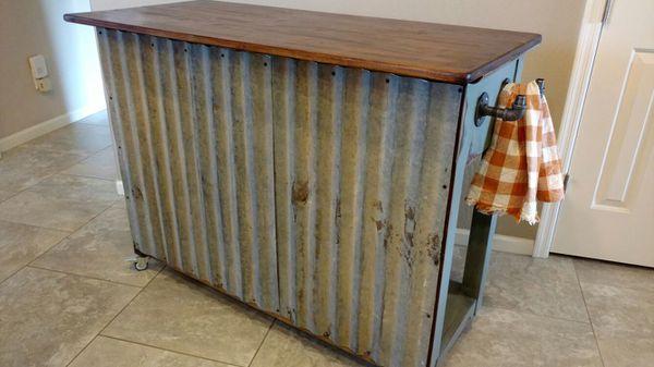 Custom Made Farmhouse Kitchen Island Patio Bar Potting Bench Sewing Room Storage