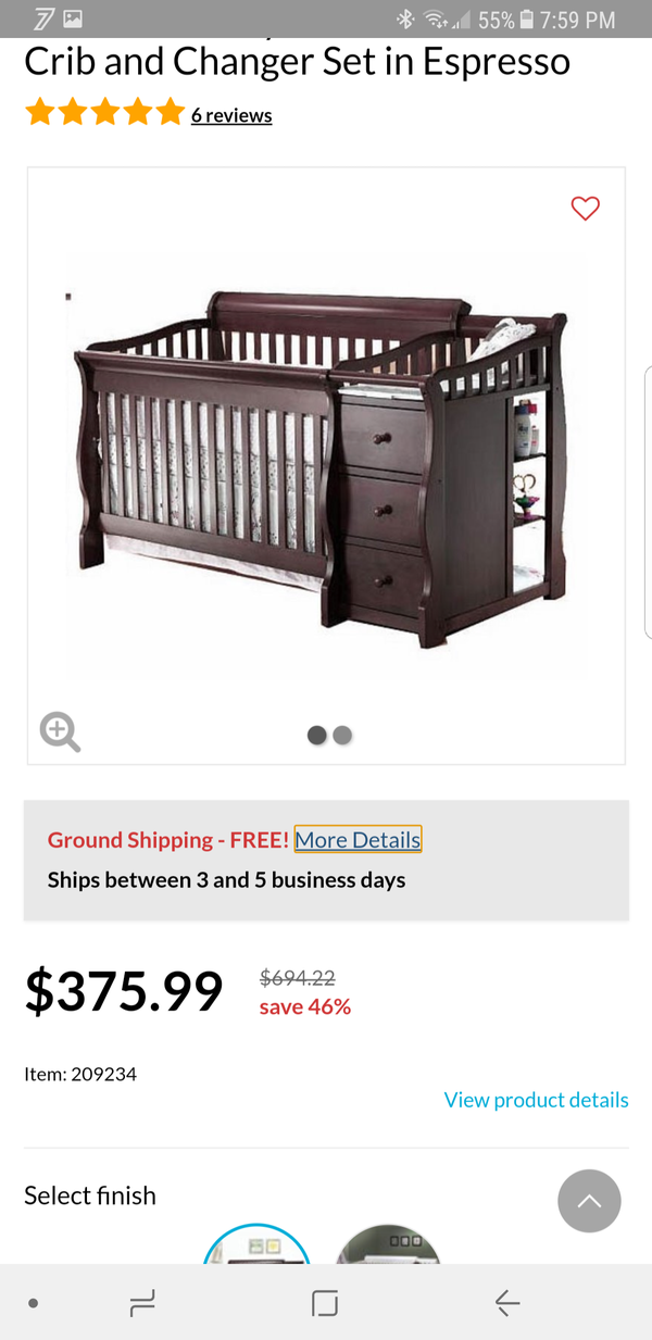 Sorelle Tuscany 4 in one convertible crib Baby Kids in