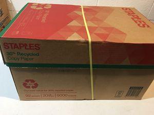 Copy paper box of 5000 sheets $20