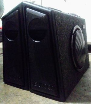 "Two Boxes With Kenwood 8"" Subs & Tweeters"