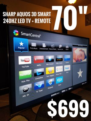 "70"" SHARP 3D SMART 240HZ LED TV. READ DESCRIPTION"