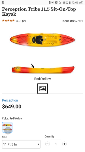 11.5ft Tribe SOT Kayak $500