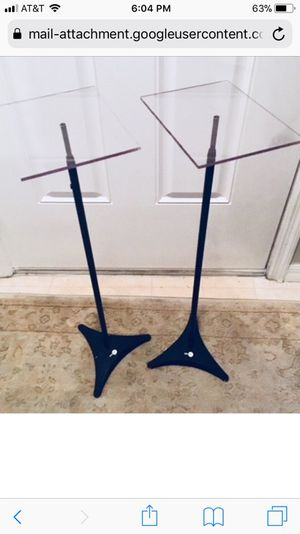 Two Omnimount HTS2 Speaker Stands - Great Shape