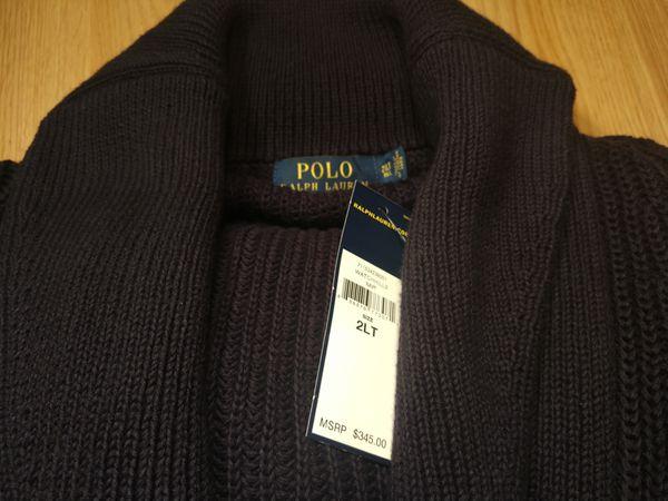 Polo Ralph Lauren Navy Cardigan Shawl