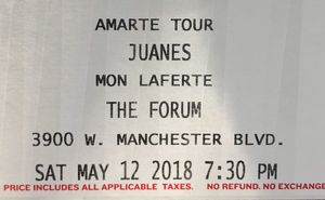 New and used vip tickets for sale in huntington park ca offerup juanes vip 2nd row may 12th single tix m4hsunfo Gallery