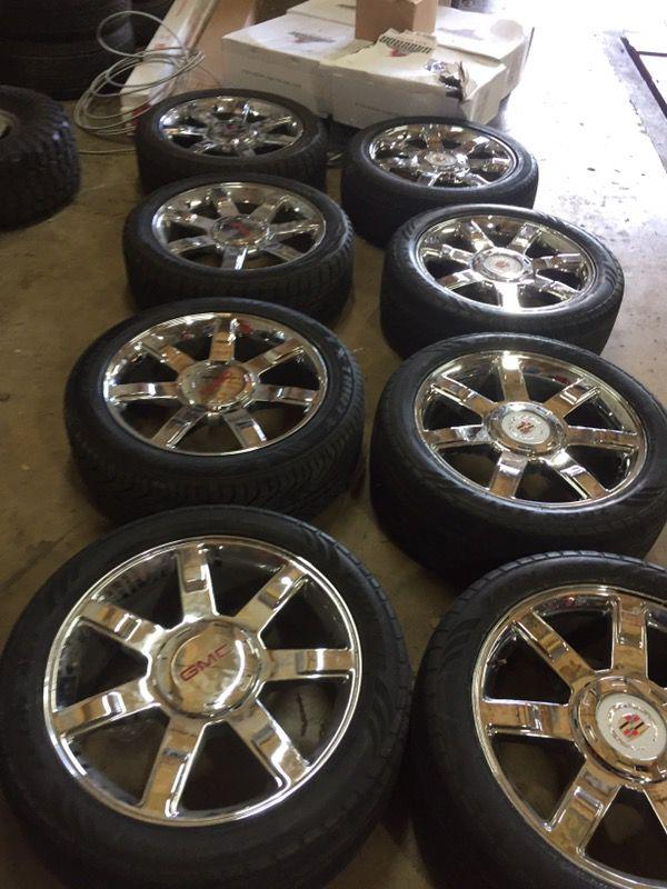 Escalade Suburban Denali Yukon Avalanche Silverado Ext Esv Wheels Rims Stocks Oem Factory Astro Van Conversion
