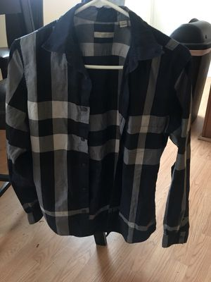 Blue Burberry Long sleeve 100%Real