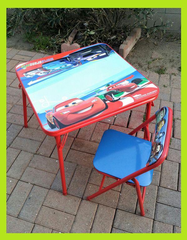 Original Disney Cars Erasable Activity Table Set with Matching Chair ...