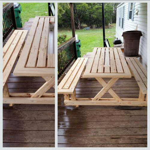 Picnic table w cooler in middle general in granbury tx offerup picnic table w cooler in middle watchthetrailerfo