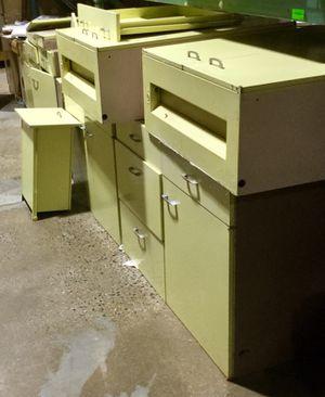 10 Piece Green Metal Cabinet