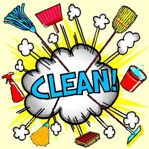 """Clean and trash removal and paint"""" (labor / hauling / moving)"""