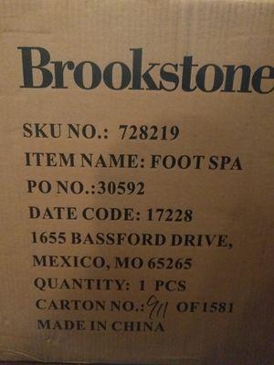 NIB Brookstone Footspa