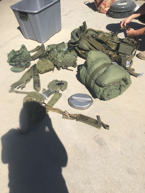 Military gear including Alice Pack with frame (Sports & Outdoors) in ...