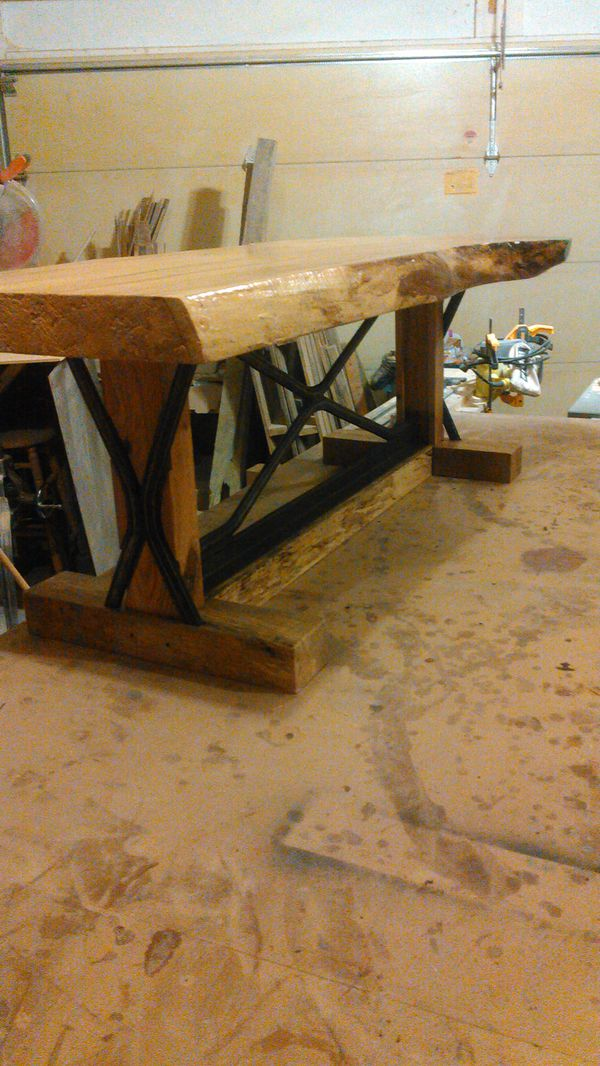 Live edge spalted maple bench tools machinery in brunswick oh live edge spalted maple bench sciox Gallery