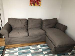 Brown IKEA ektorp series couch