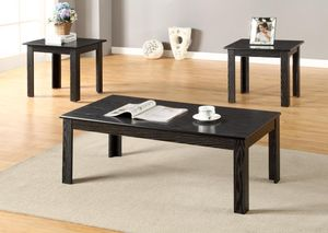 Brand New Black 3 Piece Coffee Table Set