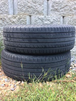Two 215-65-16 tires