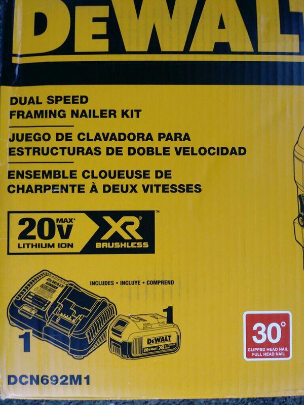 Dewalt 20 Volt Brushless Framing Nailer Kit (Tools & Machinery) in ...