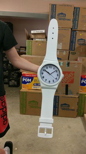 Wristwatch style wall clock