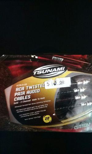 Tsunami and Fosgate Car Rca Cables
