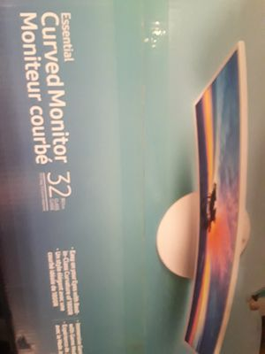 32 inch curved Samsung Led monitor. NEW