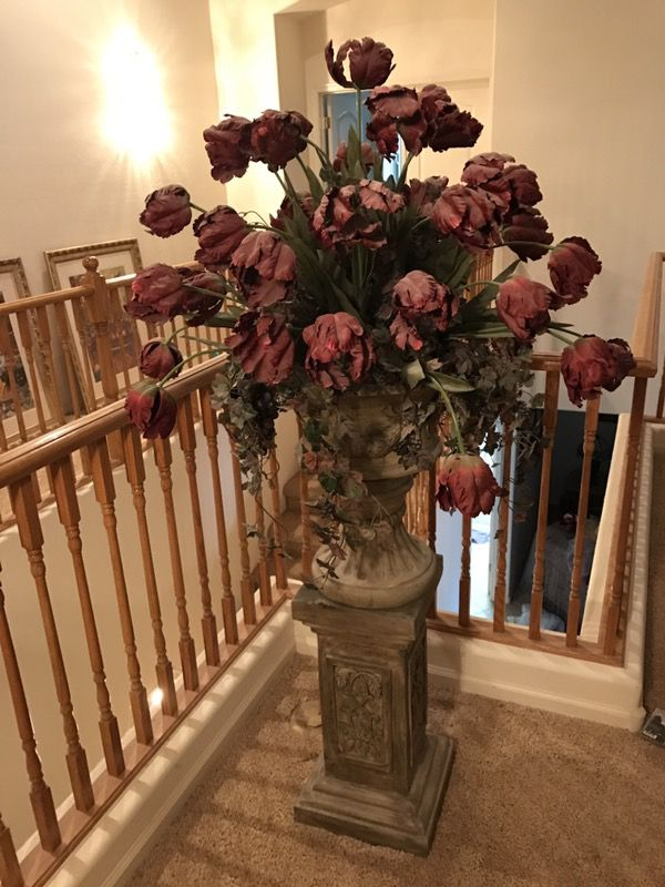 Cranberry red artificial silk flower arrangement with stand cranberry red artificial silk flower arrangement with stand mightylinksfo Gallery