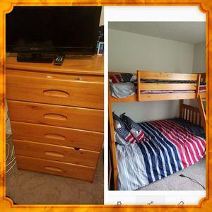 Bunkbeds/dresser never used