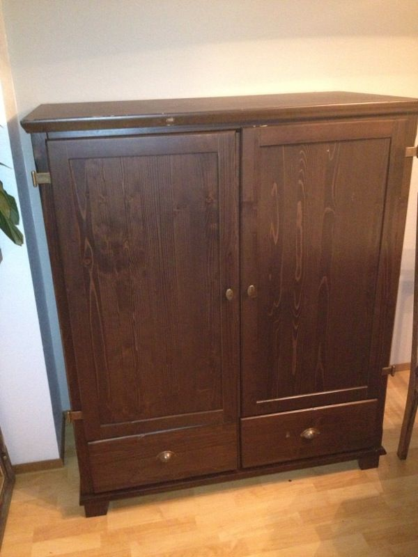 Dark brown wood armoire furniture in edmonds wa offerup for Furniture edmonds wa