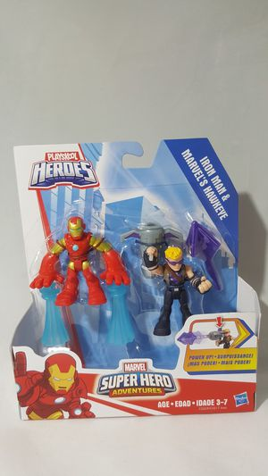 Marvel Super Hero Adventures 2.5 inch Action Figure - Iron Man and Marvel's Hawkeye