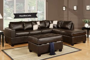Brown Leather Sectional set with Ottoman... $899.99 or as low as $32.20 per week... please visit (iNeedBed. info) for more details
