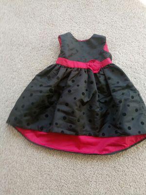 Infant girl Black polka dot Dress