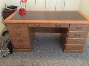 "Nice sturdy desk 65x30"". $100 OBO"
