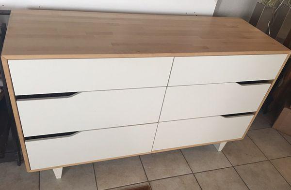 Used Ikea good used ikea mandal 6 drawer solid wood dresser (home & garden