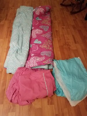 Girls pink bed in a bag