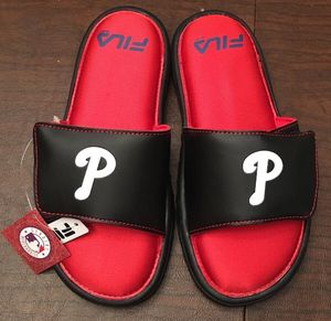 Black-and-red MLB Philadelphia Phillies Fila slide