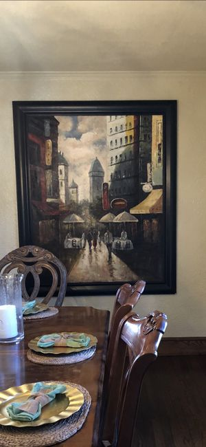 "Large (70""x58"") framed painting"