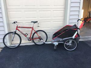 Double bike/jogging stroller
