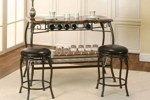 Wine table with stools ... Brand new... Too large for my space... Paid 250 brand new will take 150