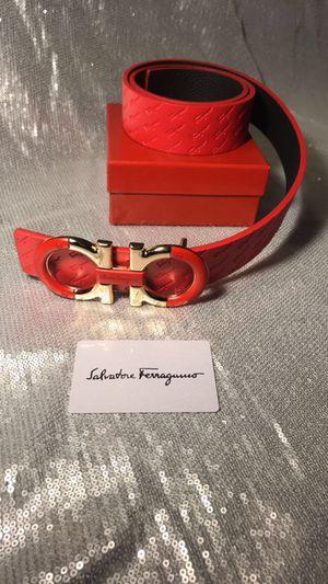 "Red Ferragamo Belt 32-34"""