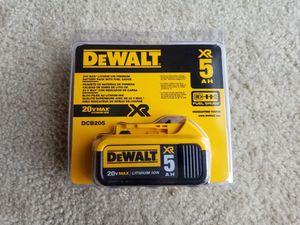 DEWALT DCB205 20V MAX XR 5.0Ah Lithium Ion Battery