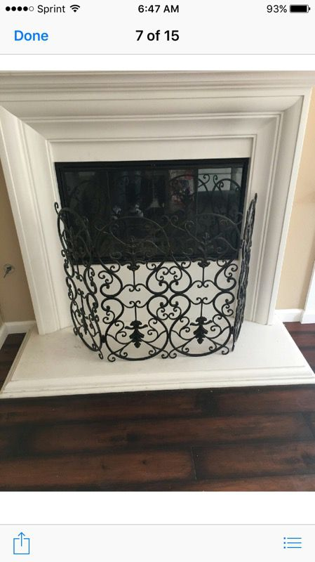 Z gallerie fireplace screen (Household) in Mission Viejo, CA - OfferUp