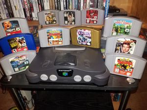 Nintendo 64 system 11 games 4 controllers and expansion pak